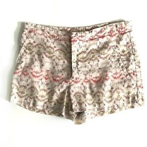 Free people linen Southwest aztec print short sz6